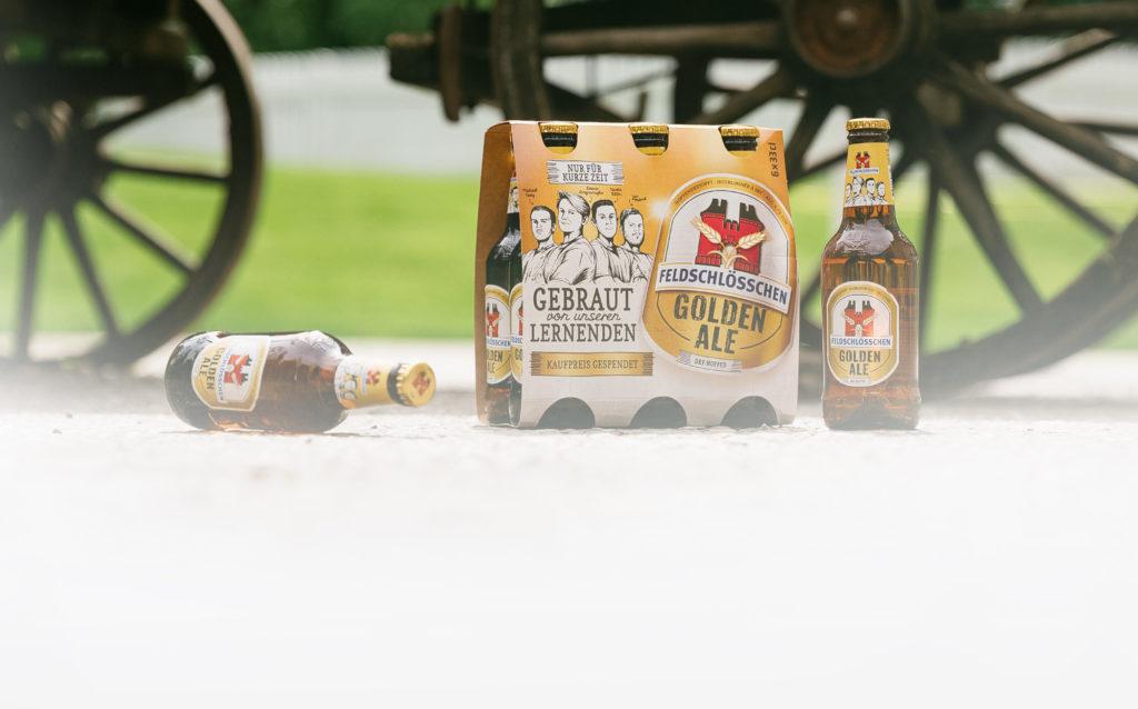 Das Felschlösschen Golden Ale: Packaging und Einzelprodukt