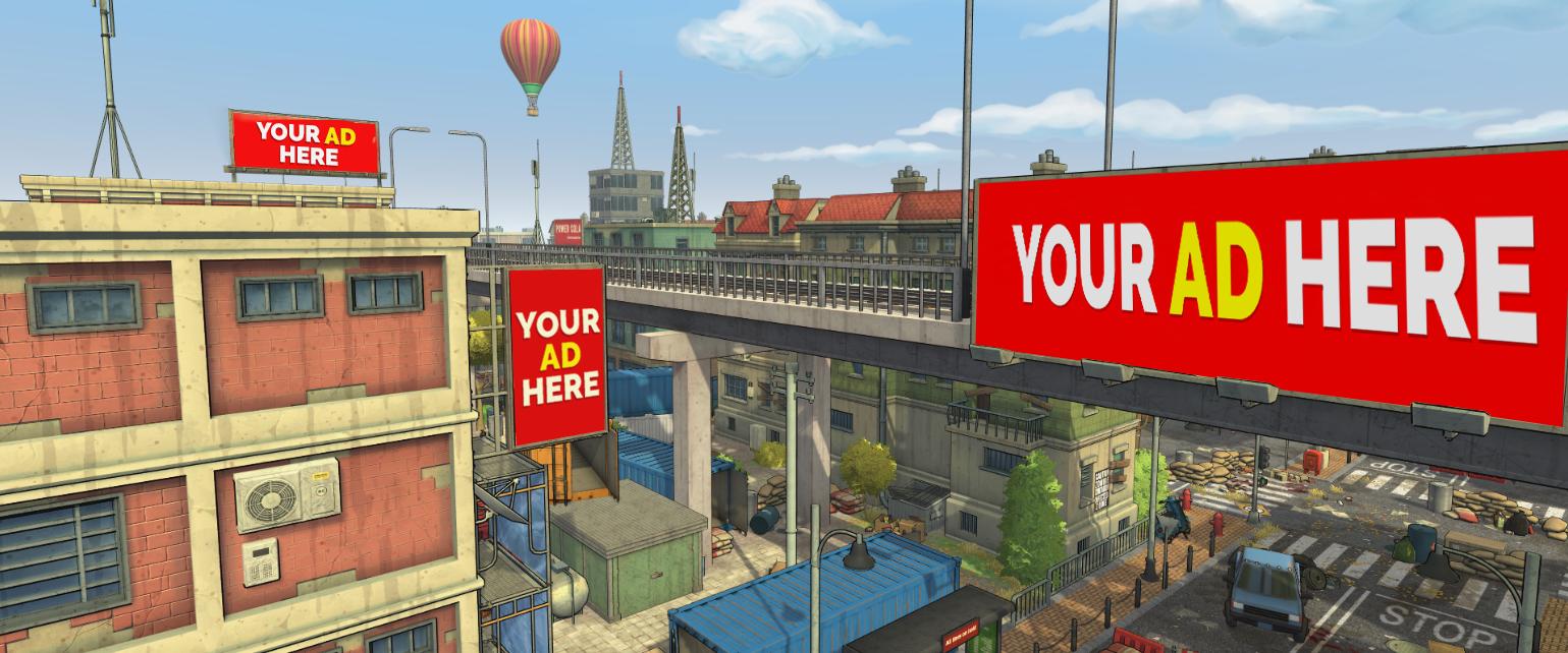 Beispielplatzierungen für In-Game-Advertising beim eSport