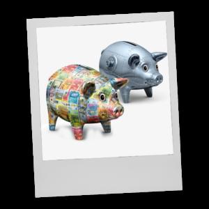 Sparschweine Coop Depositenkasse