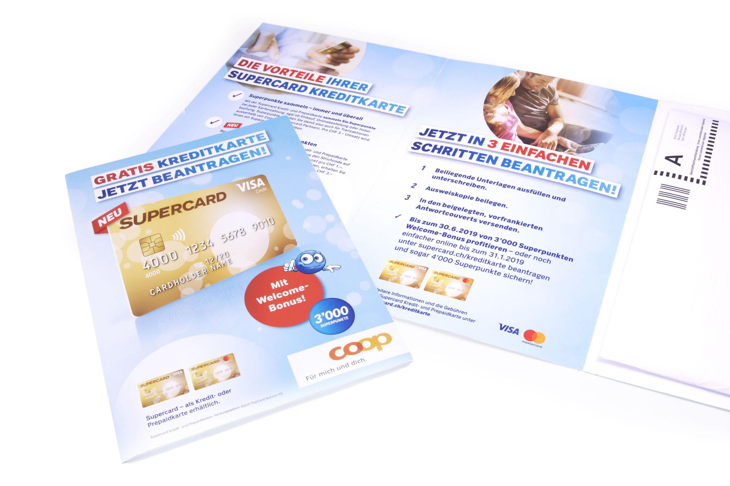 Direct Mailing für die Supercard Kreditkarte